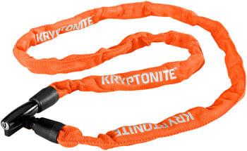 Kryptonite Keeper 411 Chain Lock with Key: Orange, 4 x 110cm