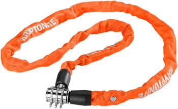 Kryptonite Keeper 411 Chain Lock with Combination: Orange, 4 x 110cm