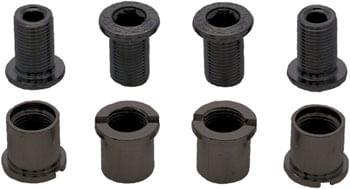 RaceFace Chainring Bolt Pack Set of 4 12.5mm Bolt/Nut Black