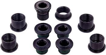 SRAM 5-Arm Hidden Bolt Road Crank Chain Ring Bolt Kit for 1x Crankset, Steel, Black