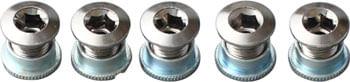 Sugino 75 Track Chainring Bolt/Nut Set of 5: Chromed Steel
