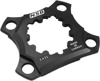 North Shore Billet 76 BCD 1x11 Spider: for XX1 /X0/X9 SRAM GXP Cranks, Black