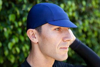 Pace Sportswear Hex-Tek Cycling Cap - UPF 50 Plus, Navy, MD/LG