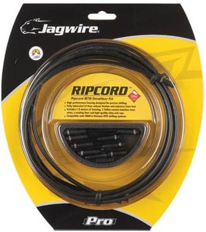 Jagwire Ripcord Mtn Derailleur Cable and Housing Set - Blk/Carbon