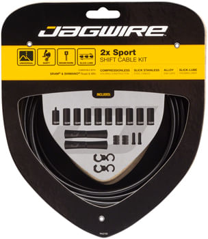 Jagwire 2x Sport Shift Cable Kit SRAM/Shimano, Black