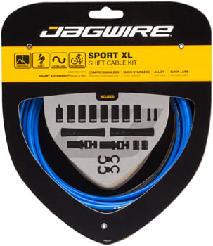 Jagwire Sport XL Shift Cable Kit SRAM/Shimano, Blue