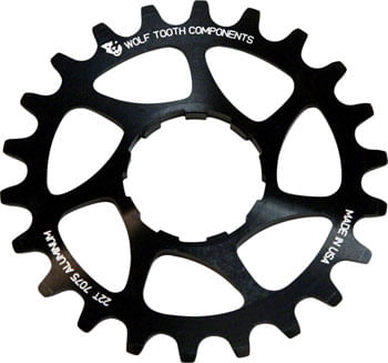 """Wolf Tooth Single Speed Aluminum Cog: 18T, Compatible with3/32"""" chains"""