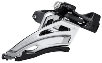 Shimano Deore FD-M5100-M Front Derailleur - 11-Speed, Double, Mid Clamp, Front Pull, Clamp Band, Black/Silver