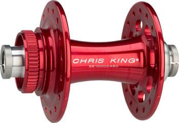 Chris King R45D Front Hub - 12 x 100mm, Center-Lock, Red, 32h