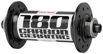 DT Swiss 180 Front Hub - QR x 100mm, Rim Brake, Black, 20h