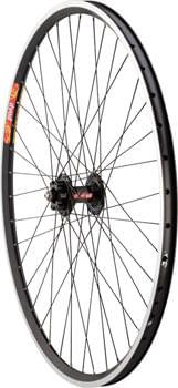 Quality Wheels Tandem Front Wheel - 700, QR x 100mm, 6-Bolt /Rim Brake, Black, Clincher