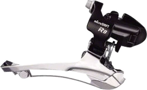 microSHIFT R8 Front Derailleur 7/8-Speed Double, 52T Max, 31.8/34.9 Band Clamp, Shimano Compatible