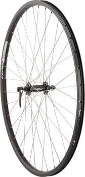 Quality Wheels Deore/DH19 Front Wheel - 700, QR x 100mm, Rim Brake, Black, Clincher