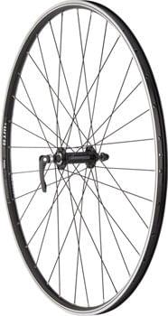 Quality Wheels WTB DX17 Hybrid Front Wheel - 700, QR x 100mm, Rim Brake, Black, Clincher