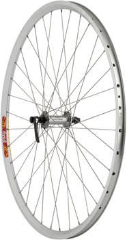 Quality Wheels LX/Dyad Front Wheel - 700, QR x 100mm, Rim Brake, Silver, Clincher