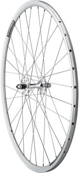 Quality Wheels Value Double Wall Series Track Front Front Wheel - 700, 9x1 Threaded x 100mm, Rim Brake, Silver, Clincher, Cartridge
