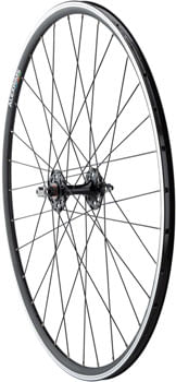 Quality Wheels Value Double Wall Series Track Front Front Wheel - 700, 9x1 Threaded x 100mm, Rim Brake, Black, Clincher