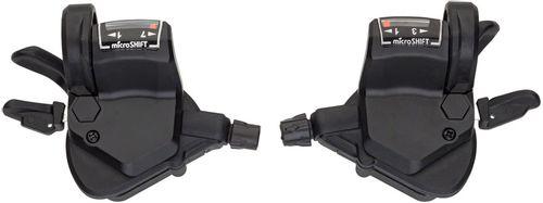 microSHIFT Mezzo Thumb-Tap Shifter Set, 7-Speed, Triple, Optical Gear Indicator, Shimano Compatible