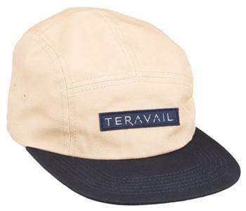 Teravail 5 Panel Baseball Cap - Khaki, Navy, One Size