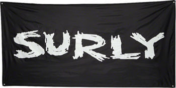 Surly Banner: Black, 36 x 72""