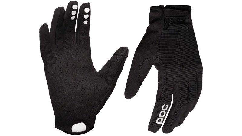 Large Uranium Black Full Finger POC Resistance Enduro Adj Gloves