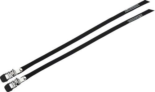 Dimension Nylon 440mm Pro Toe Straps, Black, Pair