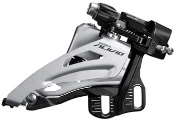 Shimano Alivio FD-M3120-E Front Derailleur - 2x9-Speed, Side Swing, Front Pull, E-Type Mount, 36t Max
