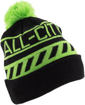 All-City Sleddin' Hat: Black/Lime Green, One Size
