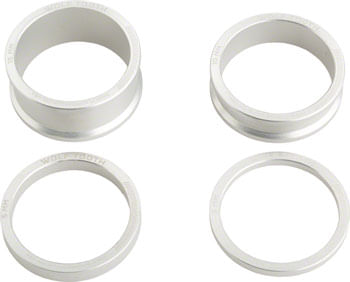 Wolf Tooth Headset Spacer Kit 3, 5, 10, 15mm, Silver