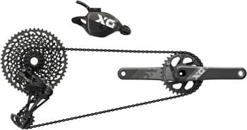 SRAM X01 Eagle DUB Groupset: 170mm Boost 32 Tooth Crank, Rear Derailleur, 10-50 12-Speed Cassette, Trigger Shifter, and Chain, Black