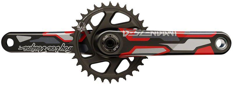 TruVativ-Descendant-Troy-Lee-Designs-CoLab-Carbon-Crankset---175mm-12-Speed-32t-Direct-Mount-DUB-Spindle-Interface-Red-CK5083-5
