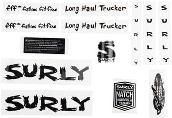 Surly LHT Decal Set Black