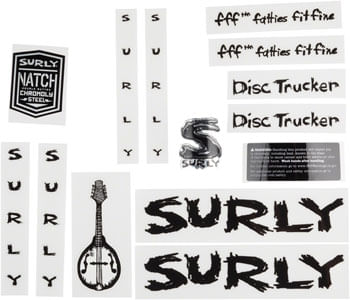 SUR Disc Trucker Decal Set Black