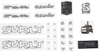 Surly Steamroller Decal Set White