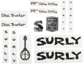 SUR Disc Trucker Decal Set Metallic Black