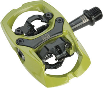 """iSSi Trail III Pedals - Dual Sided Clipless with Platform, Aluminum, 9/16"""", Army Green"""