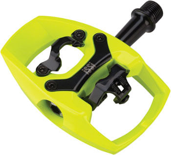 """iSSi Flip II Pedals - Single Side Clipless with Platform, Aluminum, 9/16"""", Yellow"""