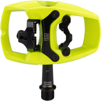 "iSSi Flip III Pedals - Single Side Clipless with Platform, Aluminum, 9/16"", Yellow"