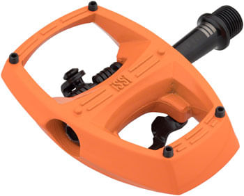 "iSSi Flip III Pedals - Single Side Clipless with Platform, Aluminum, 9/16"", OrangeYou Glad"