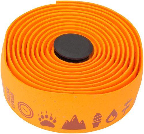 Salsa Glyph Gel Cork Handlebar Tape - Orange