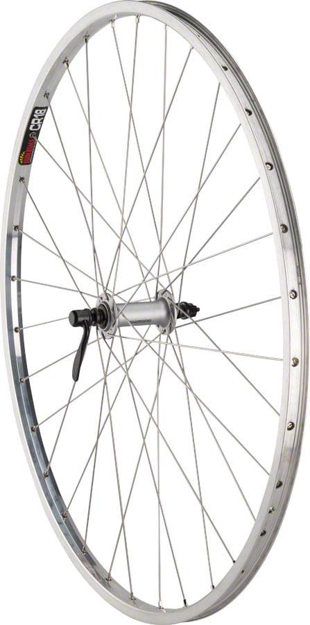 "Quality Wheels CR-18 Front Wheel - 27"", QR x 100mm, Rim Brake, Polished/Silver, Clincher"