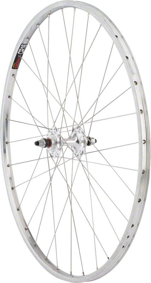 """Quality Wheels CR-18 Track Rear Wheel - 27"""", 10 x 1 x 120mm, Rim Brake, Fixed/Freewheel, Polished/Silver, Clincher"""