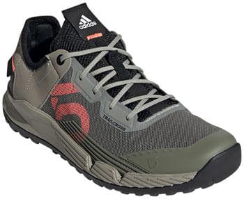 Five Ten Trailcross LT Flat Shoe  -  Women's, Legacy Green / Signal Coral / Core Black, 10