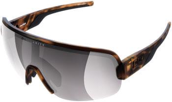 POC Aim Sunglasses - Tortoise Brown, Violet/Silver Mirror Lens