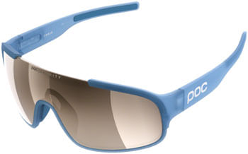 POC Crave Clarity Sunglasses - Basalt Blue/Brown, Silver Mirror Lens