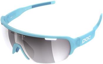 POC Do Half Blade Sunglasses - Basalt Blue, Violet/Silver Mirror Lens