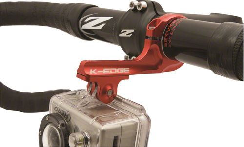 K-EDGE Go Big Pro Universal Action Camera and Light Dual Side Handlebar Mount 31.8mm: Red