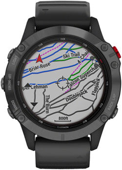 Garmin Fenix 6 Pro Solar GPS Watch - Slate Gray with Black band