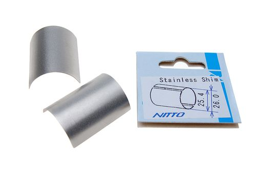 Nitto Stainless Steel Handlebar Shim - Use 25.4 bars in 26.0 stem