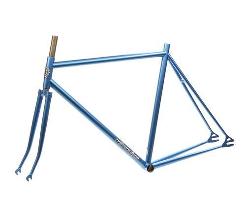 Milwaukee Bicycle Co. Cream City Frameset - 54cm - Metallic Steel Blue - Blem